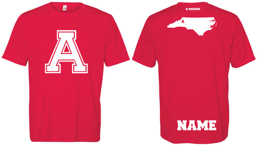 Avery HS Athletics DryFit Performance Tee - Red - 5KounT