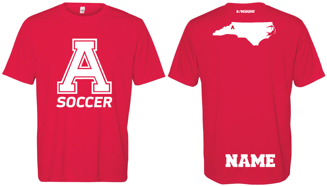 Avery HS Soccer DryFit Performance Tee - Red