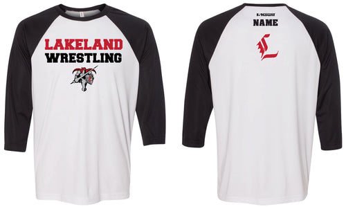 Lakeland Jr. Wrestling Baseball Shirt - 5KounT2018