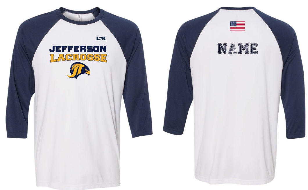 Jefferson LAX Baseball Shirt
