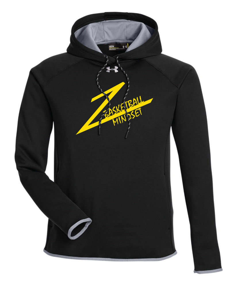 Basketball Mindset Under Armour Men's Double Threat Armour  Fleece Hoodie - Black