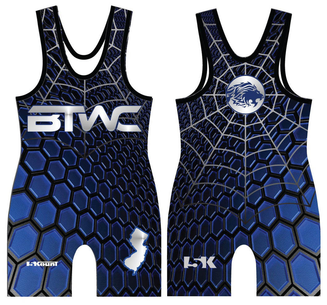 Bitetto Trained Freestyle Sublimated Singlet - Blue - 5KounT2018