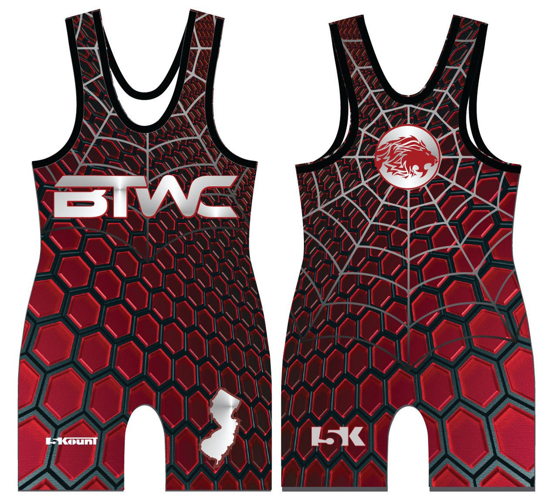Bitetto Trained Freestyle Sublimated Singlet - Red - 5KounT