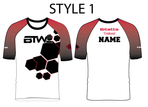 Bitetto Trained Digital Hex Sublimated Fight Shirt - Styles 1-5 - 5KounT2018