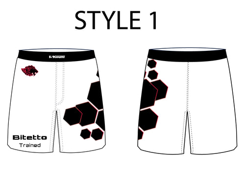 Bitetto Trained Sublimated Fight Shorts - 5 Styles - 5KounT2018