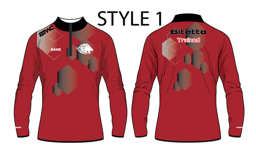 Bitetto Trained Digital Hex Sublimated Quarter Zip - Styles 1-5 - 5KounT2018