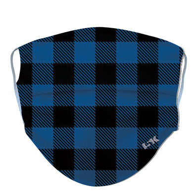 Blue Plaid Reusable Face Mask - 5KounT2018