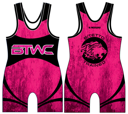 Bitetto Trained 2017 Sublimated Singlet - Neon Pink
