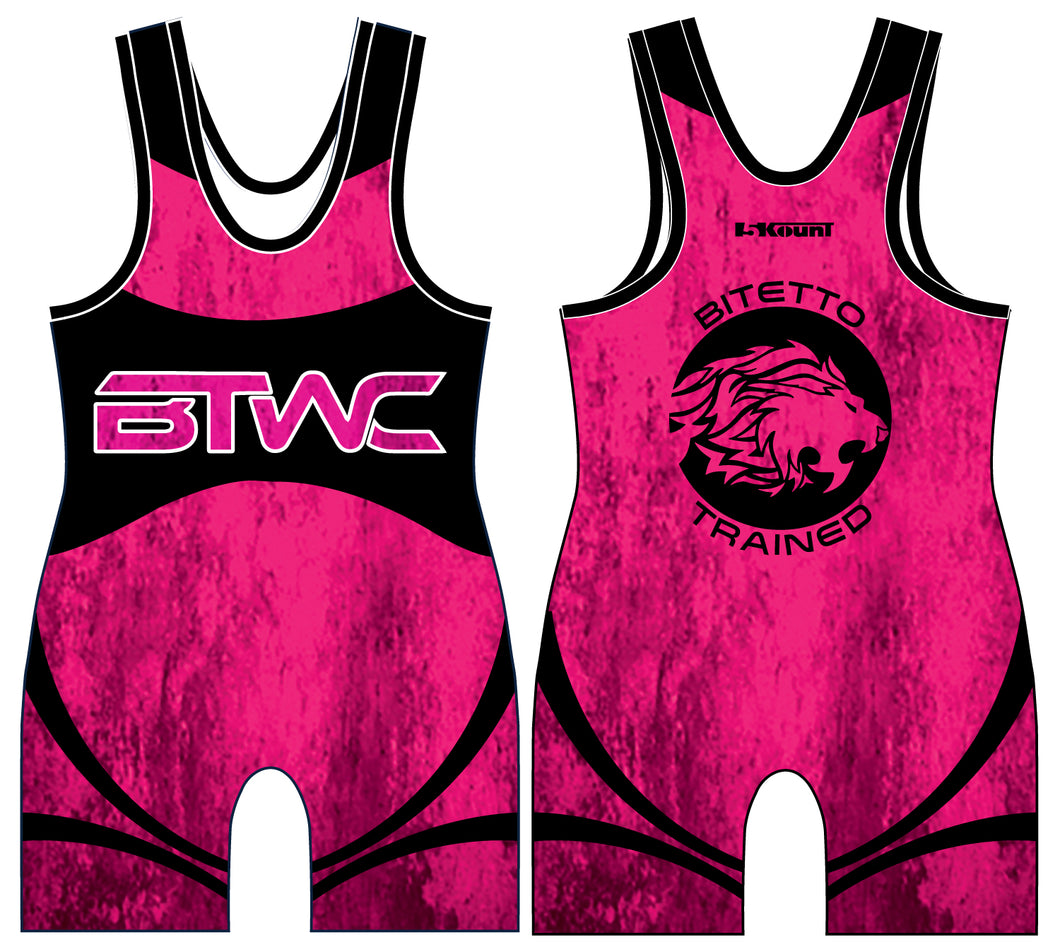 Bitetto Trained 2017 Sublimated Singlet - Neon Pink - 5KounT