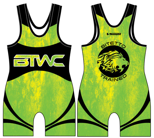 Bitetto Trained 2017 Sublimated Singlet - Neon Yellow - 5KounT