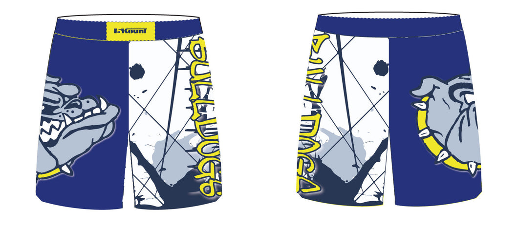 Bulldogs Wrestling Sublimated Fight Shorts