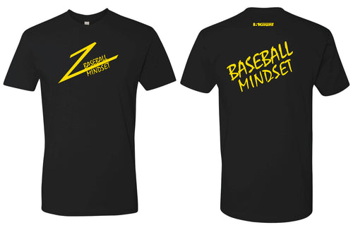 Baseball Mindset Cotton Crew Tee - Black