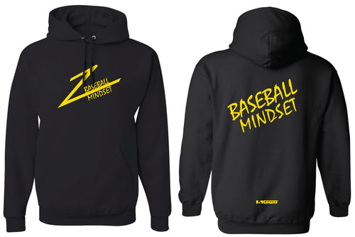 Baseball Mindset Cotton Hoodie - Black
