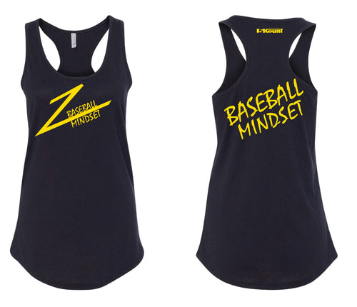 Baseball Mindset Ladies Tank Top - Black