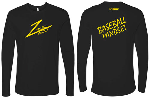 Baseball Mindset Cotton Long Sleeve -Black