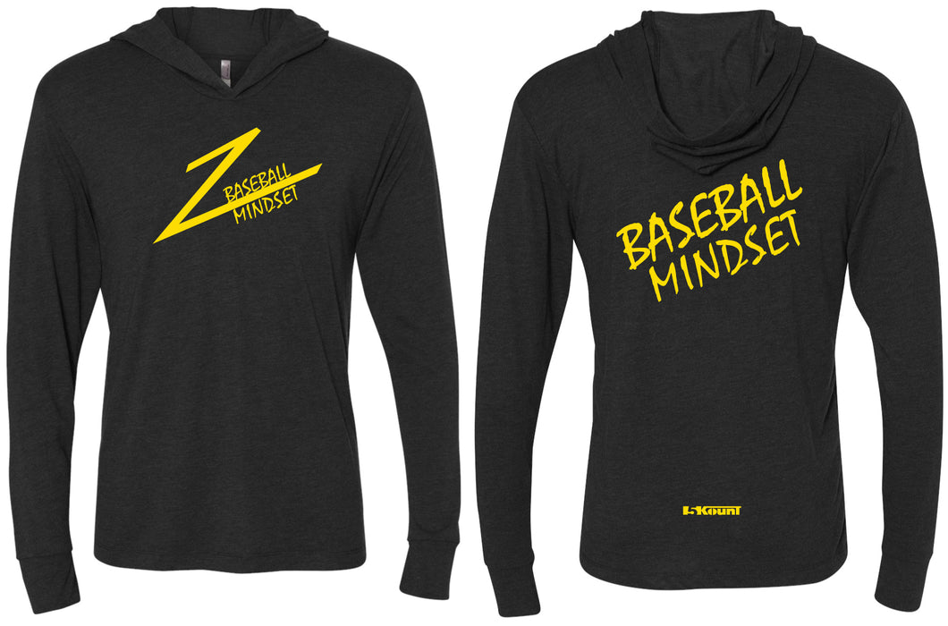 Baseball Mindset Triblend Hooded Tee - Black
