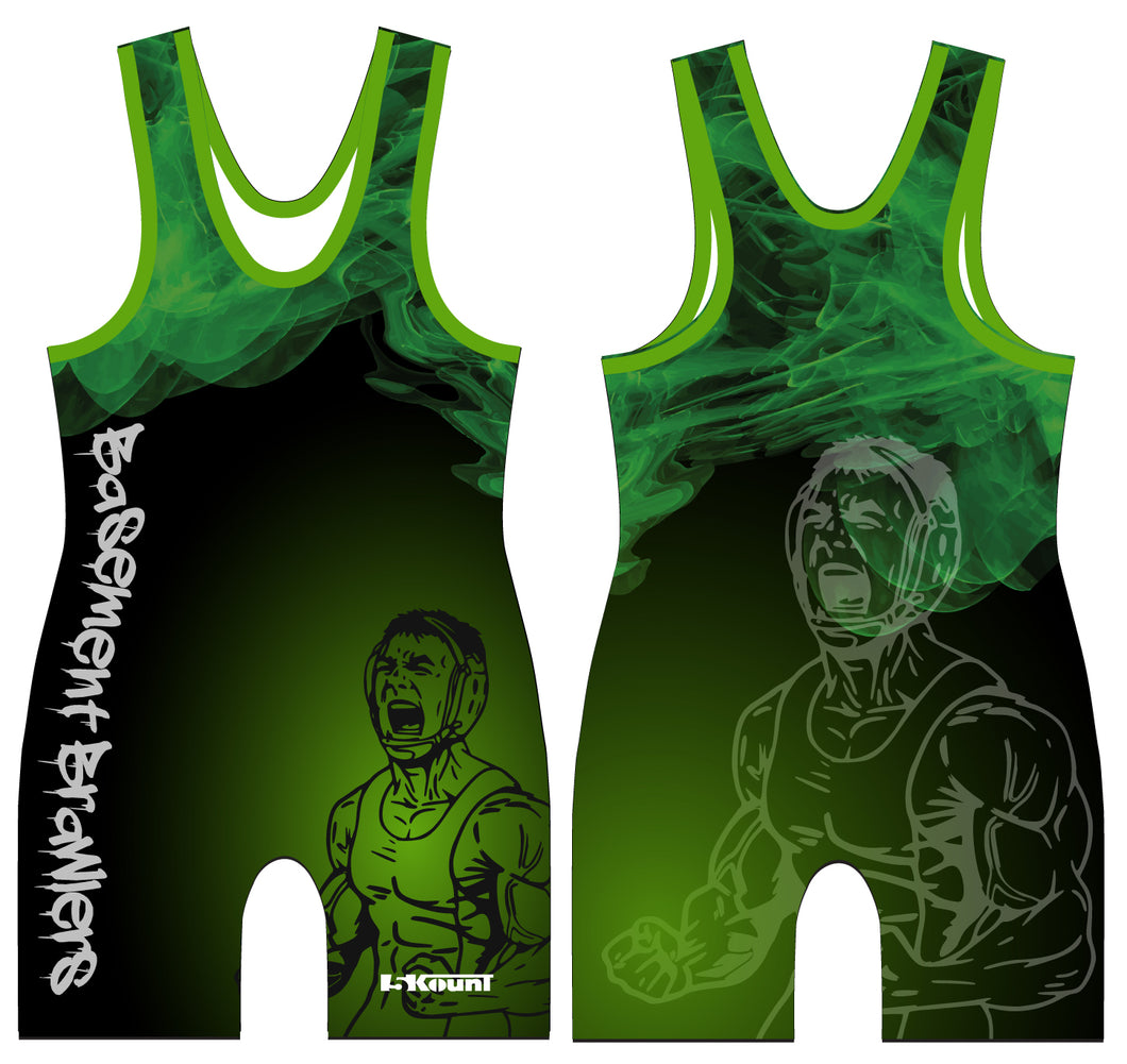 Basement Brawlers Singlet - Green