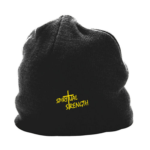 Spiritual Strength Skull Beanie - Black