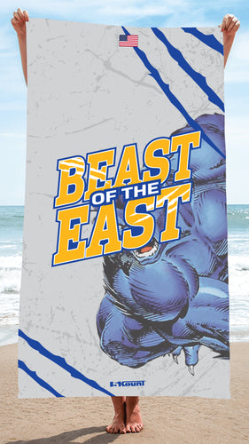 Beast of the East Wrestling Sublimated Beach Towel - 5KounT2018