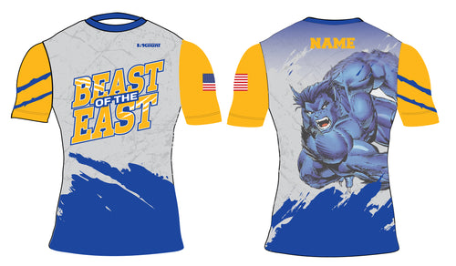Beast of the East Wrestling Sublimated Compression Shirt - 5KounT2018