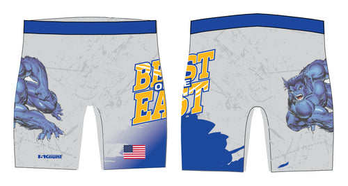 Beast of the East Wrestling Sublimated Compression Shorts - 5KounT2018
