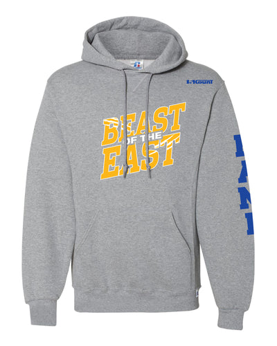 Beast of the East Wrestling Russell Athletic Cotton Hoodie - Grey - 5KounT2018