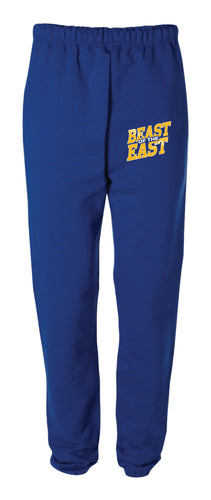 Beast of the East Wrestling Cotton Sweatpants - Royal - 5KounT2018