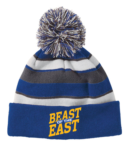 Beast of the East Wrestling Pom Beanie - Royal - 5KounT2018