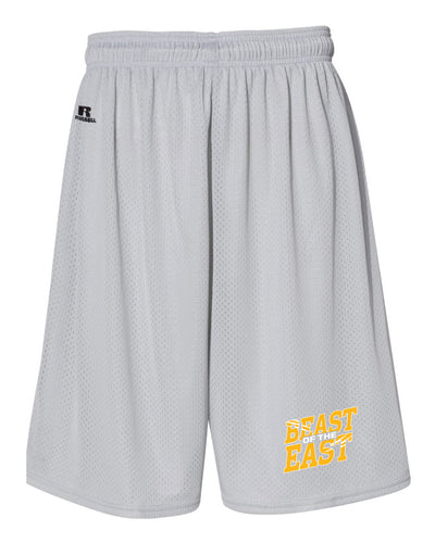 Beast of the East Wrestling Russell Athletic  Tech Shorts - Silver - 5KounT2018