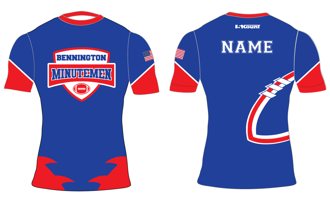 Bennington Minutemen Sublimated Compression Shirt - 5KounT2018