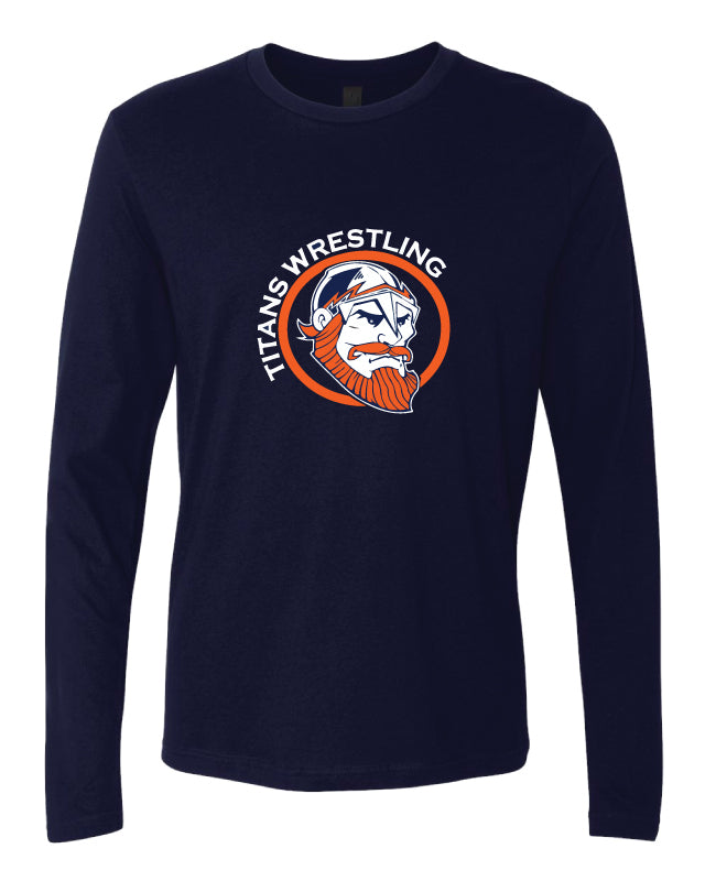 Berea-Midpark HS Wrestling Long Sleeve Cotton Crew - Navy