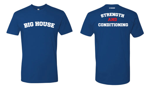 Big House Wrestling Cotton Crew Tee - Royal