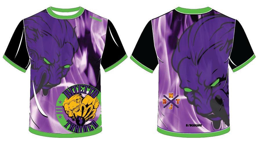 Bitetto Trained Purple Sublimated Fight Shirt
