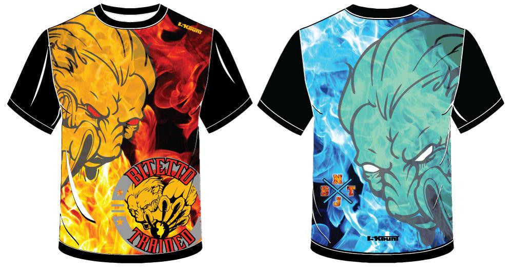 Bitetto Trained Fire/Ice Sublimated Fight Shirt - 5KounT2018