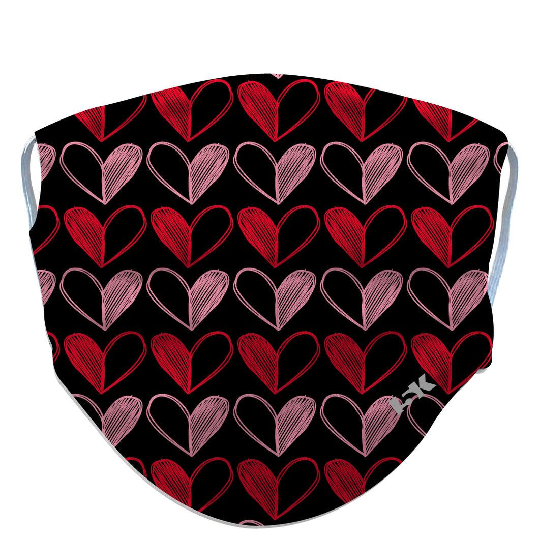 Red-and-Pink-Heart-Reusable-Face-Mask - 5KounT2018