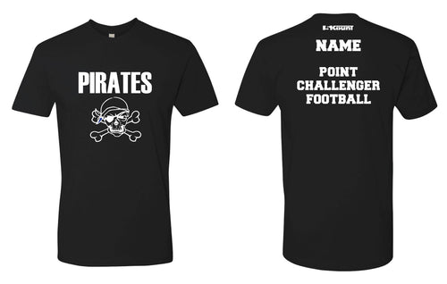 Challenger Football Cotton Crew Tee - Black/White - 5KounT