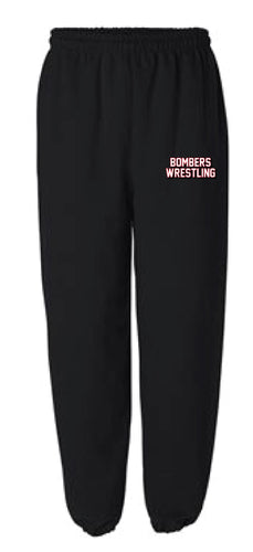 Boonton Bombers Wrestling Cotton Sweatpants - Black/Red