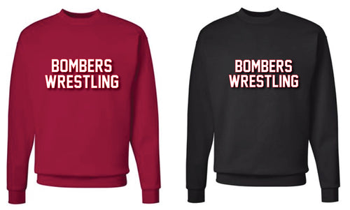 Boonton Bombers Wrestling Crewneck Sweatshirt - Black/ Red