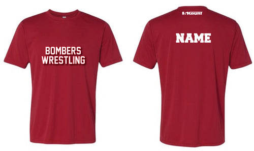 Boonton Bombers Wrestling DryFit Performance Tee - Red