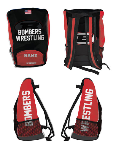 Boonton Bombers Wrestling Sublimated Backpack
