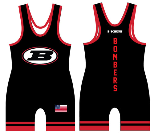 Boonton Bombers Wrestling Sublimated Singlet