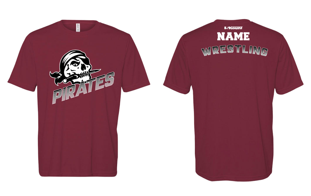 Pirates Wrestling DryFit Performance Tee - Maroon