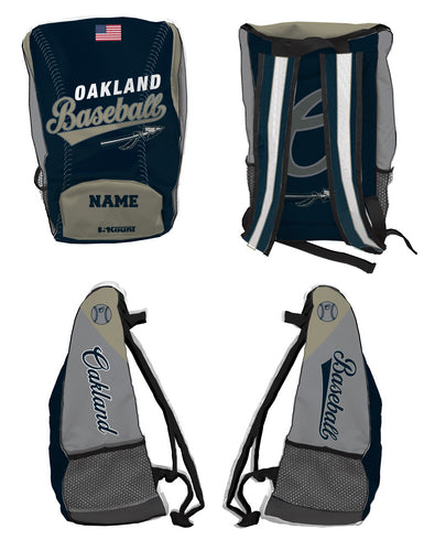 Braves Baseball Sublimated Backpack