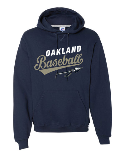 Braves Baseball Russell Athletic Cotton Hoodie - Navy