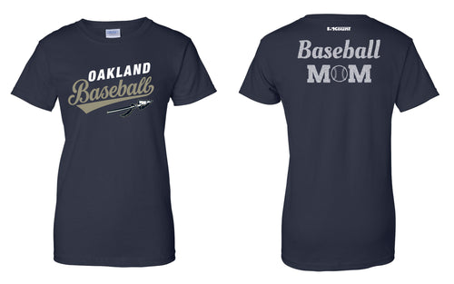 Braves Baseball Cotton Women's Crew Tee - Navy