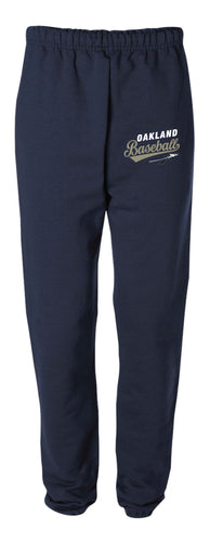 Braves Baseball Cotton Sweatpants - Navy