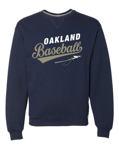 Braves Baseball Russell Athletic Cotton Crewneck Sweatshirt - Navy - 5KounT2018