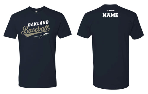 Braves Baseball Cotton Crew Tee - Navy
