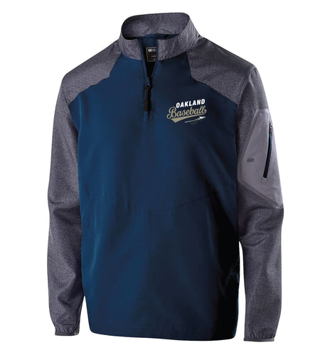 Braves Baseball Qtr zip Jacket - Navy/Grey