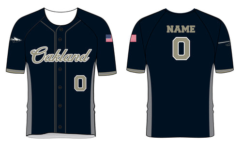 Braves Baseball Sublimated Full Button Jersey